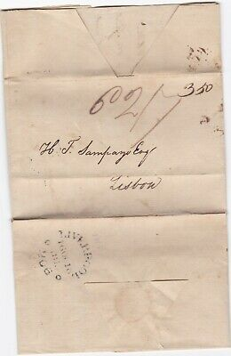 # 1815 Liverpool Circ Mileage Pmk Letter George Johnston To H T Sampayo Portugal