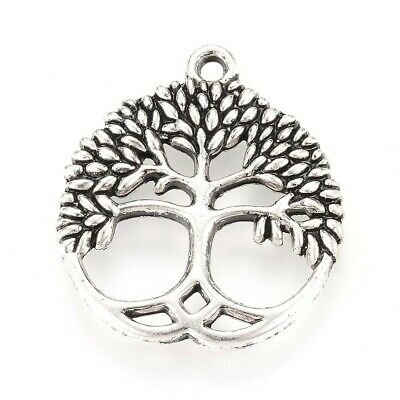 Tree of Life Charm/Pendant Tibetan Antique Silver 23 x 26mm  10 Charms Accessory