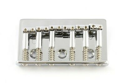 NEW - Non-Tremolo, Top Loading Guitar Bridge - CHROME