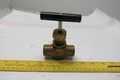 "Whitey B-18RF8 3000PSI Brass 1/2"" FNPT Industrial Needle Valve W/Handle"