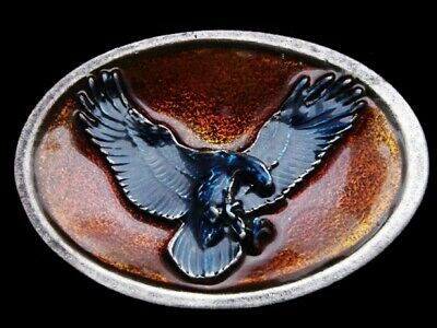 Ll17101 Really Nice **American Bald Eagle** Multi-Color Lacquer Belt Buckle
