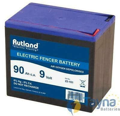 Rutland 9V 90Ah Air Oxygen Electric Fence Batterie