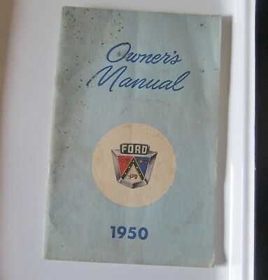 Antique Original 1950 Ford Monarch Car Owner's Manual Ford Canada