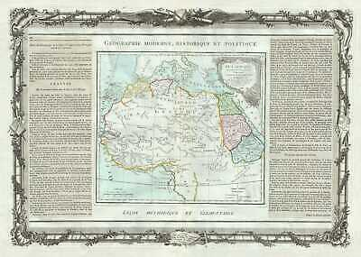 1786 Desnos and de la Tour Map of Egypt, West Africa and the Barbary Coast