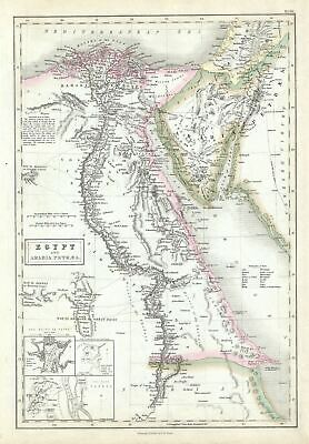 1851 Black Map of Egypt and the Sinai