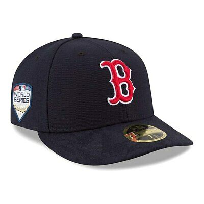 53e287295 New Era Boston Red Sox 2018 MLB World Series Hat Patch 59FIFTY Low Profile  Cap