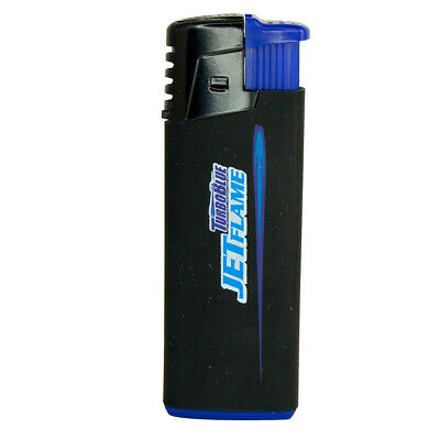 Turbo Blue Refillable Jet Flame Lighter - Powerful Windproof Flame