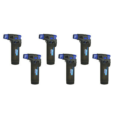 Turbo Blue XXL Jet Flame Refillable Torch Lighter - 6 Pack