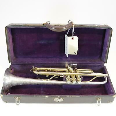 King Silvertone Bb Trumpet SN 826 ARTIST BORE! STERLING SILVER BELL GOLD PLATE