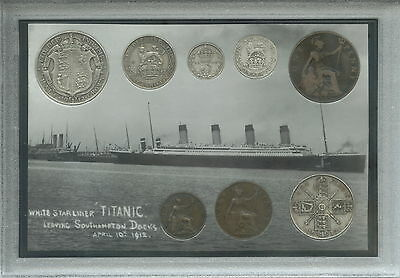 The Titanic Antique Cased Memorabilia Coin Gift Collection Collector Set 1912