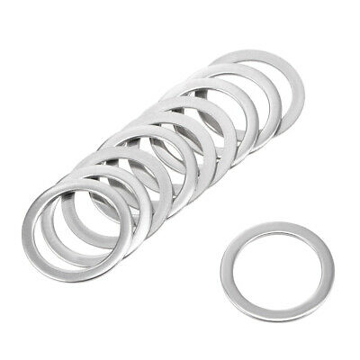 10 Pcs 15mm x 20mm x 0.8mm 304 Stainless Steel Flat Washer for Screw Bolt