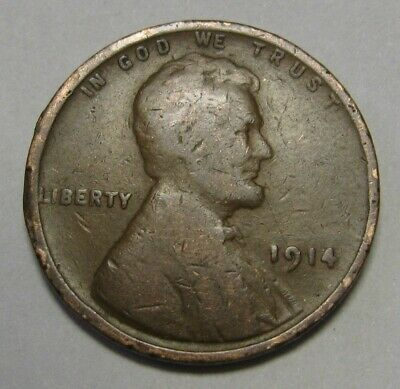 1914 Lincoln Wheat Cent in Average Circulated Condition    DUTCH AUCTION