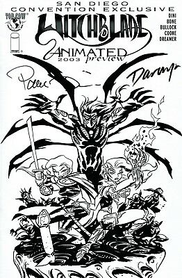 Witchblade Animated #1 San Diego Con Exclusive Signed Darwyn Cooke & Paul Dini