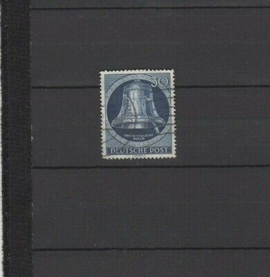 A Good Cat Value  Berlin 1951-52 30pfg Blue Bell issue with Clapper at right