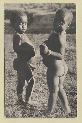 South Africa 1948 Attractive NATIVE CHILDREN Postcard, Used KENGRAY
