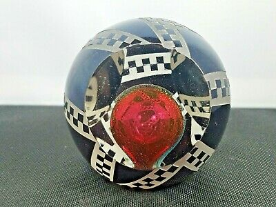 Correia Signed Paperweight Floating Maroon Ball Ltd Ed 61/250 1988 Art Glass Nr
