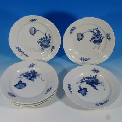Royal Copenhagen Blue Flowers Curved - 1st Quality - 1623 - 6 Luncheon Plates