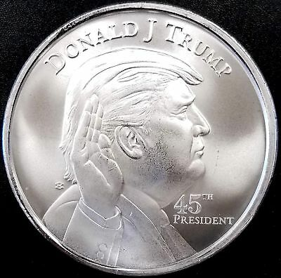 Donald J. Trump, 45th President, One Troy Ounce, .999 Fine Silver Round!