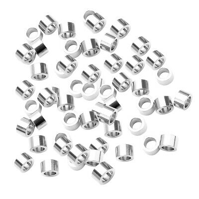 20x Stainless Steel Metal Beads Column Large Hole Smooth Loose Spacer Lot