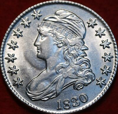 Uncirculated 1830 Philadelphia Mint Silver Capped Bust Half Dollar
