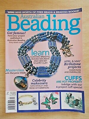 Australian Beading Vol 5 #2~Projects~Jewellery~Lily Pond Necklace~Cuff~Kumihimo