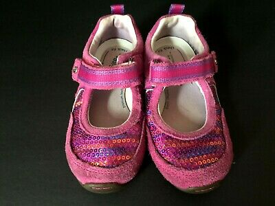 b22f40802851 Stride Rite Toddler Girls Size 7W Mary Jane Shoes SRT Dana Pink Sequins  Sparkly