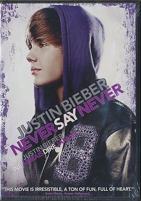 Justin Bieber: Never Say Never (DVD, 2013, Canadian) BRAND NEW
