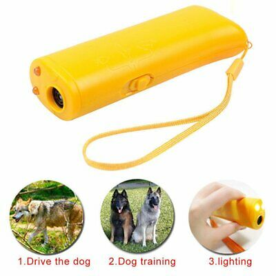 Ultrasonic 3 in 1 LED Anti Pet Dog Repeller Train Control Device Stop Barking US