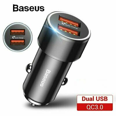 Baseus 36W Dual USB Quick Charge QC3.0 Car Charger for iPhone XS X 8 Samsung S10