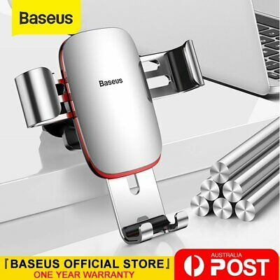 Baseus Metal Universal Gravity Car Holder Air Vent Mount Clip for iphone Samsung