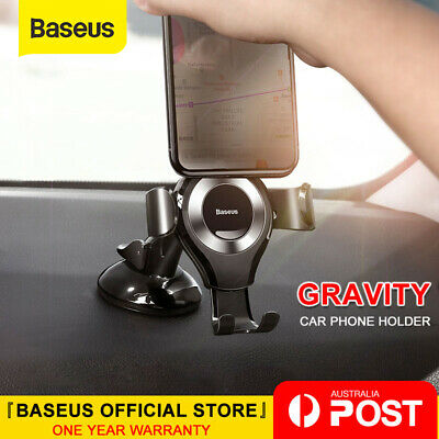 Genuine Baseus 360° Gravity Universal Car Mobile Phone Holder Stand Mount