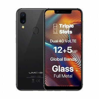 """DOOGEE Y8 3GB+16GB Unlocked Smartphone Android 9.0 4G LTE 6.1"""" FHD 19:9 3400mA"""