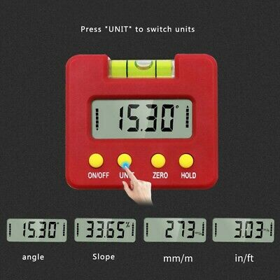 Magnetic Base Digital Protractor Angle Gauge Finder Inclinometer Level Box Tools