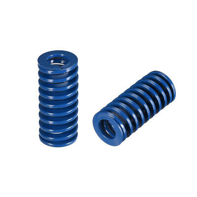 16x 35mm Long Spiral Stamping Light Load Compression Mould Die Spring Blue 2Pcs