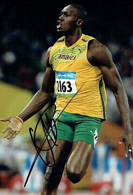Usain BOLT Olympic Athlete 2019 SIGNED 12x8 Photo 5 AFTAL Autograph COA
