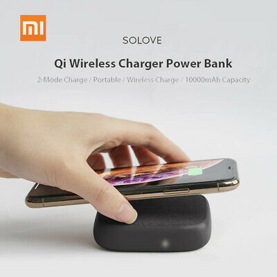 Xiaomi SOLOVE 10000mAh Qi Wireless Charger Power Bank for iPhone XS Samsung M8O5