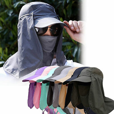 Legionnaire Cap Sun UV Protection Neck Flap Ear Face Cover Long Hat Fold Up CHY