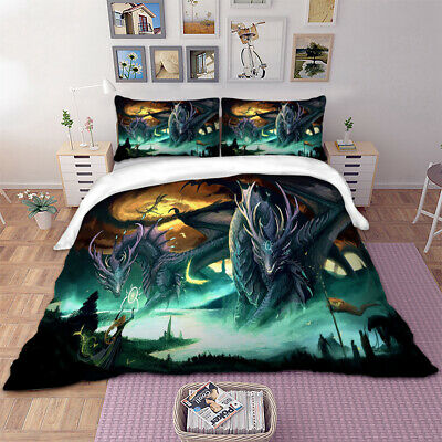 Wild Dragon Quilt/Doona/Duvet Covers Set Single/Double/Queen/King All Size Bed