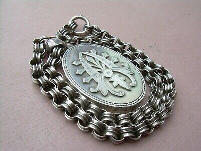 Antique Victorian High Quality Large Locket & Chain.