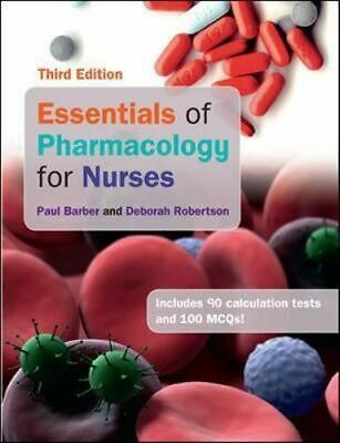NEW Essentials Of Pharmacology For Nurses 3E By Barber Paperback Free Shipping