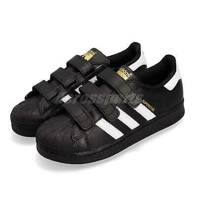 quality design a9778 1199d adidas Superstar CF C Black White Gold Strap Kids Casual Athletic Shoes  B26071