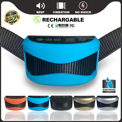 Auto Anti Bark Collar Rechargeable Vibration Collars Stop Barking Dog Pet Device