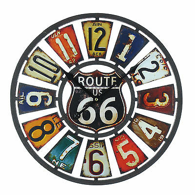 Route 66 Usa Art Deco / Retro Design Wall Clock. New & Boxed.40Cm