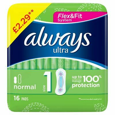 Always Normal Ultra (Size 1) Sanitary Towels 16 x 4 (64 Pads) 184698