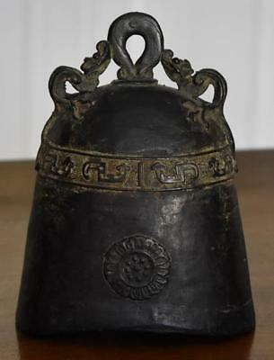 Antique Chinese Shang Dynasty  Ming Dynasty Bronze Or Iron Large Bell
