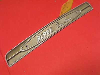"1969? Aluma Craft Boat"" Alpex Sea Aira"" Aluminum Embossed Name Plate Sign"