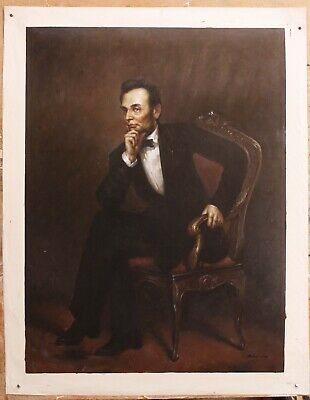 """Repro art oil painting on canvas Abraham Lincoln OF George P. A. Healy 30""""x40"""""""