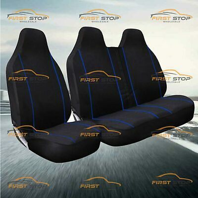 Citroen Relay 02-On High Quality Deluxe Blue Piping Van Seat Covers 2+1