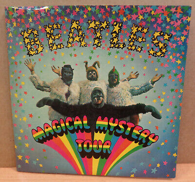 """The Beatles Magical Mystery Tour Uk Mono Parlophone Dbl 7"""" Blue Insert 4 Prong"""