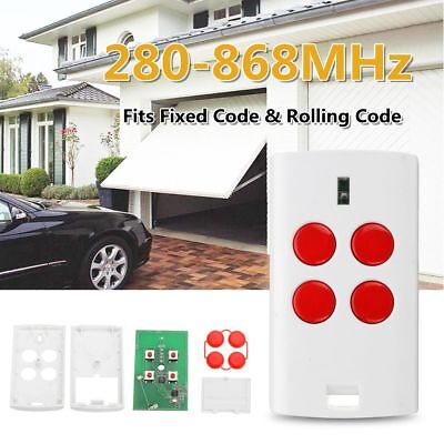 Red 4 Buttons 280-868 MHz Universal Garage Door Multi Remote Fixed Rolling Code